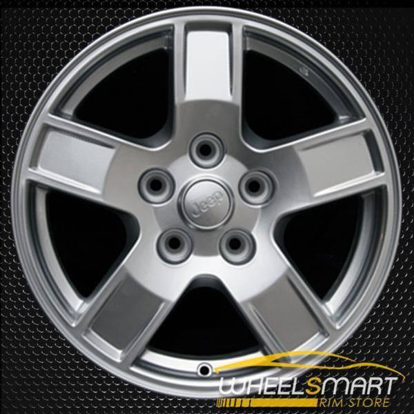 "17"" Jeep Grand Cherokee OEM wheel 2005-2007 Silver alloy stock rim ALY09053U20"