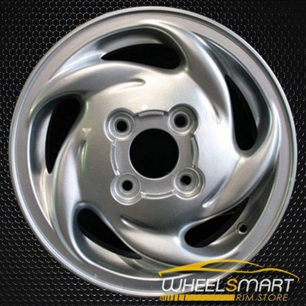 """14"""" Hyundai Accent OEM wheel 1995-1999 Silver alloy stock rim ALY70663U10"""
