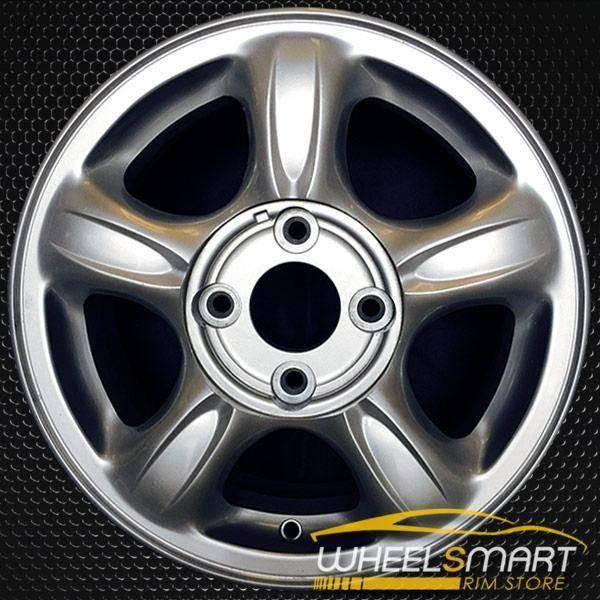 """15"""" Hyundai Sonata OEM wheel 1999-2001 Silver alloy stock rim ALY70675U10"""
