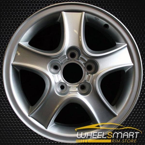 "16"" Hyundai Santa Fe OEM wheel 2001-2004 Silver alloy stock rim ALY70690U10"