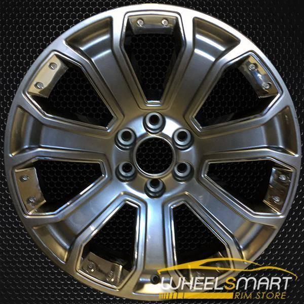 """22"""" GMC Sierra 1500 OEM wheel 2014-2018 Hypersilver alloy stock rim ALY05660U79"""