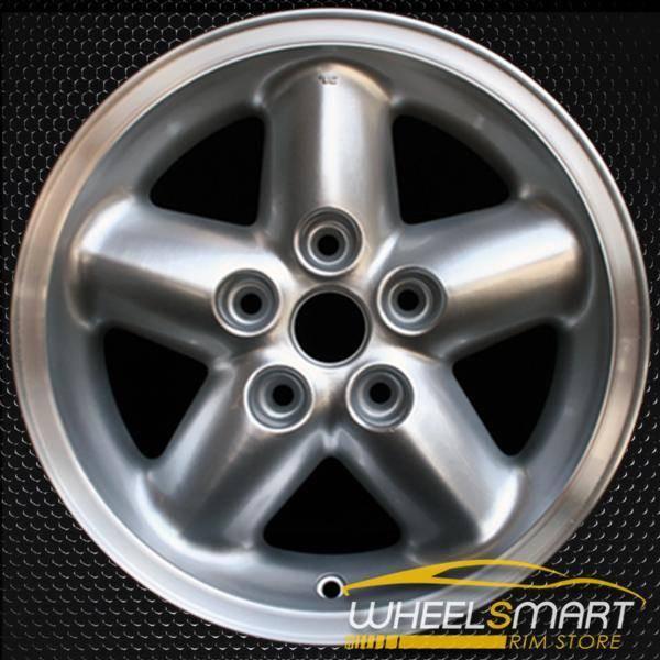 """15"""" Jeep Wrangler OEM wheel 1997-2001 Silver alloy stock rim ALY09016U10"""