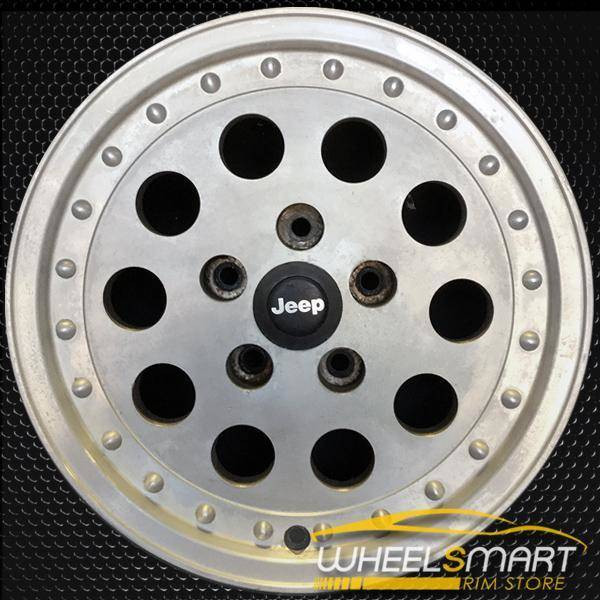 "15"" Jeep Cherokee OEM wheel 1989-1991 Silver alloy stock rim 9030 ALY09030U10"