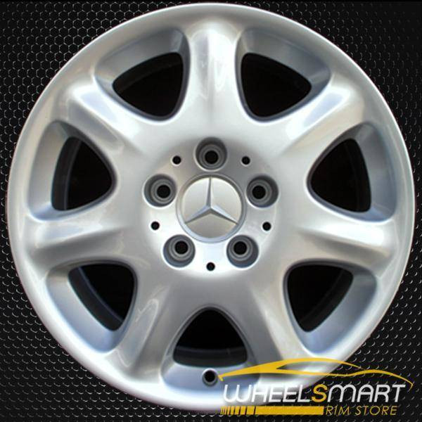 "16"" Mercedes S430 OEM wheel 2000-2002 Silver alloy stock rim ALY65204U10"