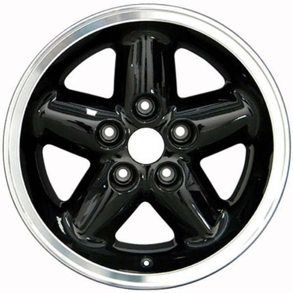 "15"" Jeep Wrangler replica wheel 1987-2006 Black Machined rims 8537977"