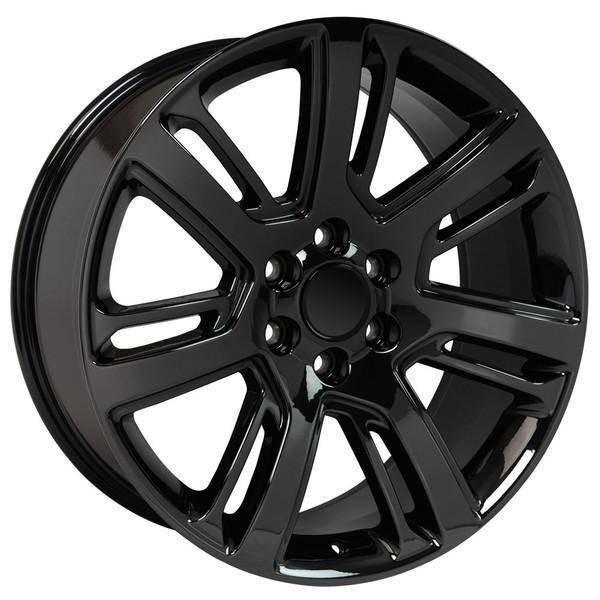 "22"" Chevy Avalanche replica wheel 2002-2013 Black Chrome rims 9507859"