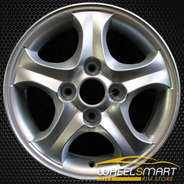 """15"""" Hyundai Elantra OEM wheel 2000-2005 Silver alloy stock rim ALY70686U10"""