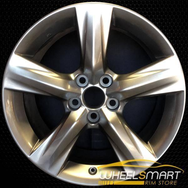 """18"""" Lexus IS350 OEM wheel 2014-2016 Hypersilver alloy stock rim ALY74290U77"""