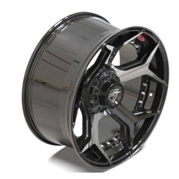 Machined Black 5-Lug 4Play 4P50 truck rims