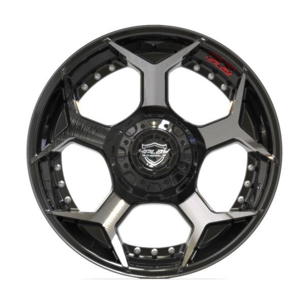 5-Lug 4Play 4P50 Wheels Machined Black front