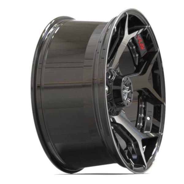 6-Lug 4Play 4P50 Machined Black wheels