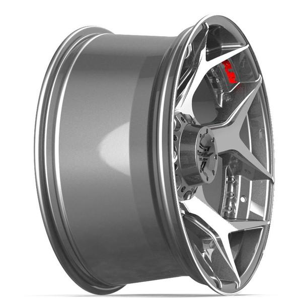 Machined Gunmetal 8-Lug 4Play 4P50 truck rims