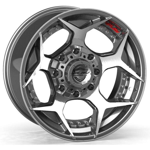 8-Lug 4Play 4P50 Wheels Machined Gunmetal Custom Truck Rims