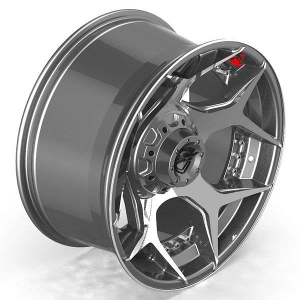8-Lug 4Play 4P50 Machined Gunmetal wheels