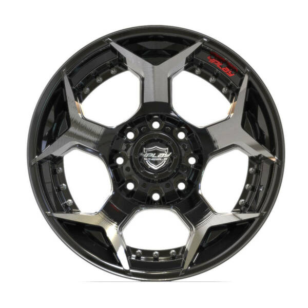 "20"" 8-Lug 4Play 4P50 Wheels Machined Black front"