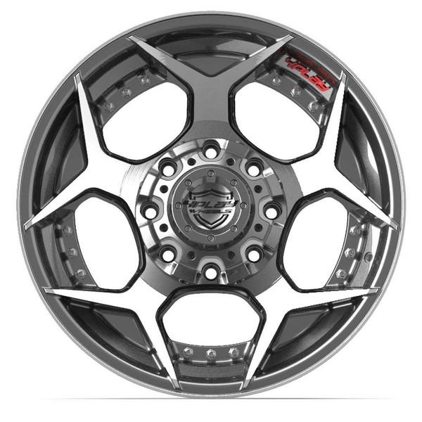 5-Lug 4Play 4P50 Wheels Machined Gunmetal front
