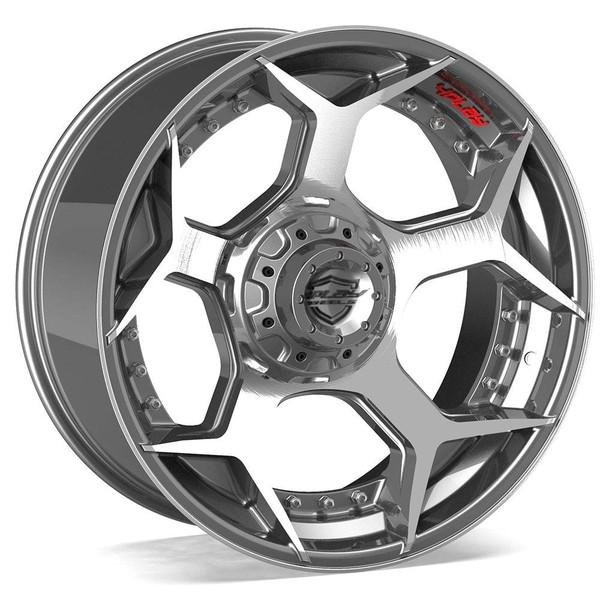 6-Lug 4Play 4P50 Wheels Machined Gunmetal Custom Truck Rims