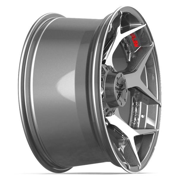Machined Black 8-Lug 4Play 4P50 Gunmetal rims