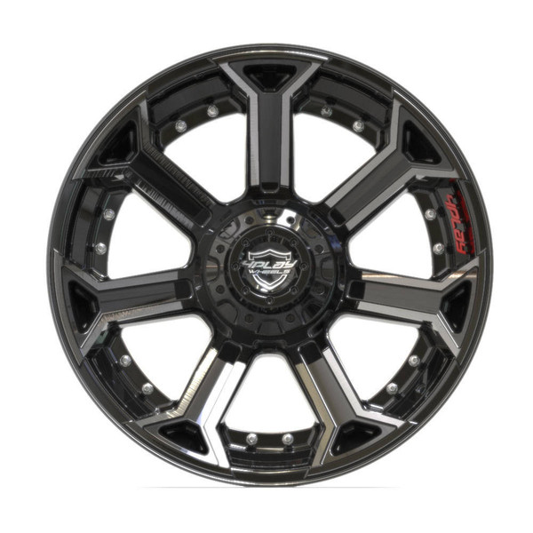 5-Lug 4Play 4P70 Wheels Machined Black front