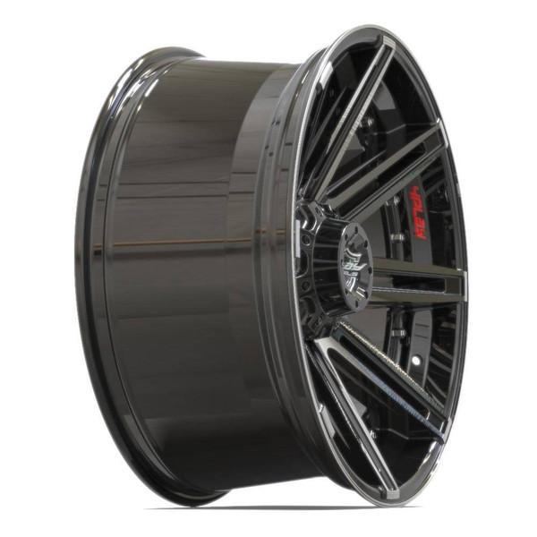 5-Lug 4Play 4P08 Machined Black wheels