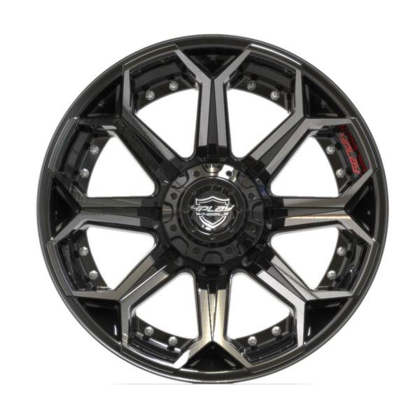 5-Lug 4Play 4P80R Wheels Machined Black front