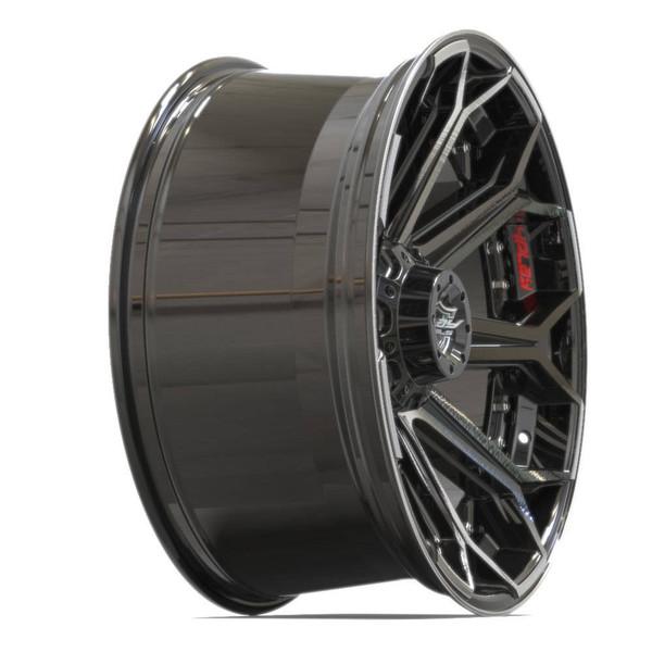 5-Lug 4Play 4P80R Machined Black wheels