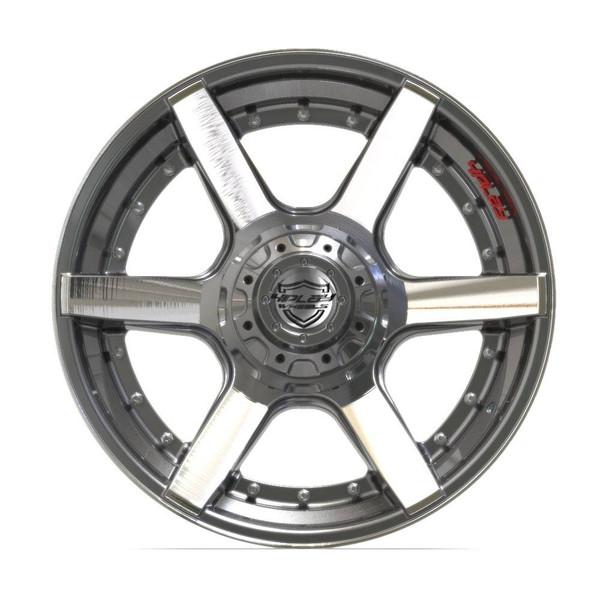 6-Lug 4Play 4P60 Wheels Machined Gunmetal front