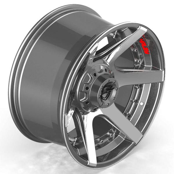 6-Lug 4Play 4P60 Machined Gunmetal wheels