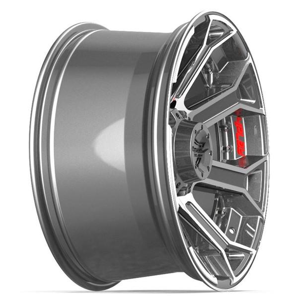 5-Lug 4Play 4P70 Machined Gunmetal wheels