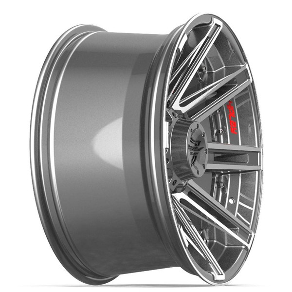 5-Lug 4Play 4P08 Machined Gunmetal wheels