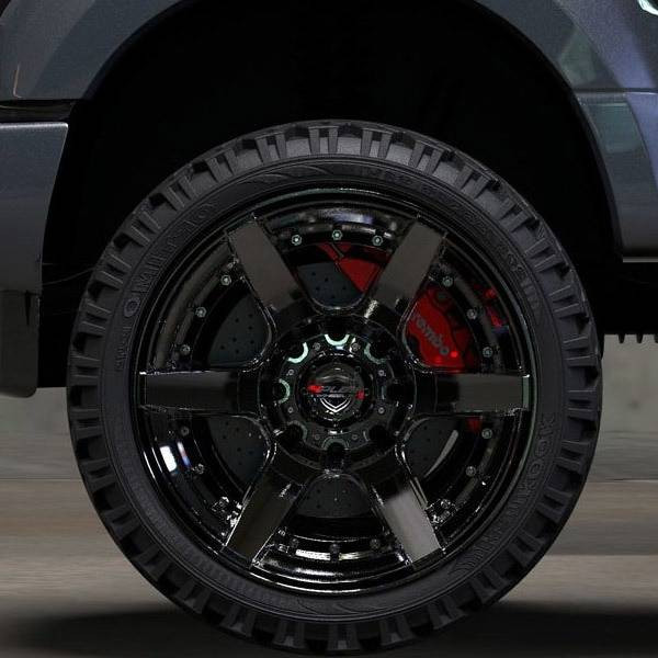 4Play 4P60 Brushed Black truck wheel detail