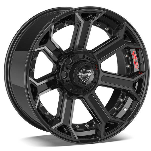 6-Lug 4Play 4P70 Wheels Machined Black Custom Truck Rims