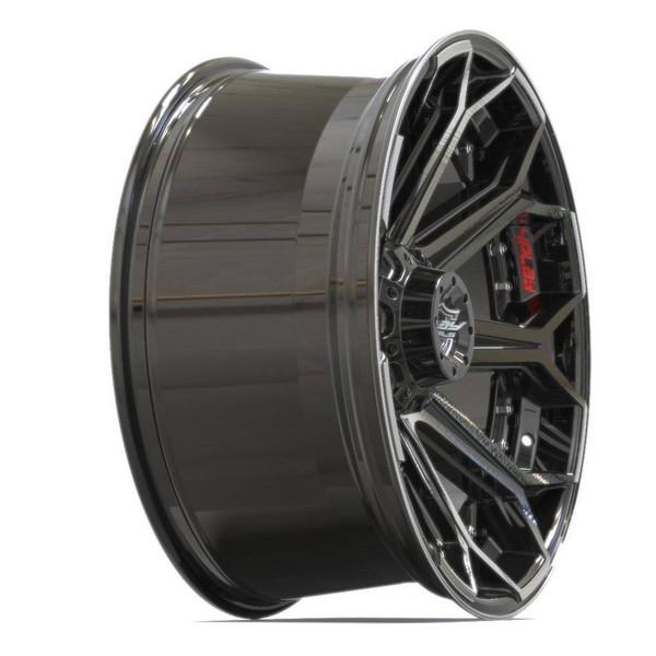 Machined Black 6-Lug 4Play 4P80R truck rims
