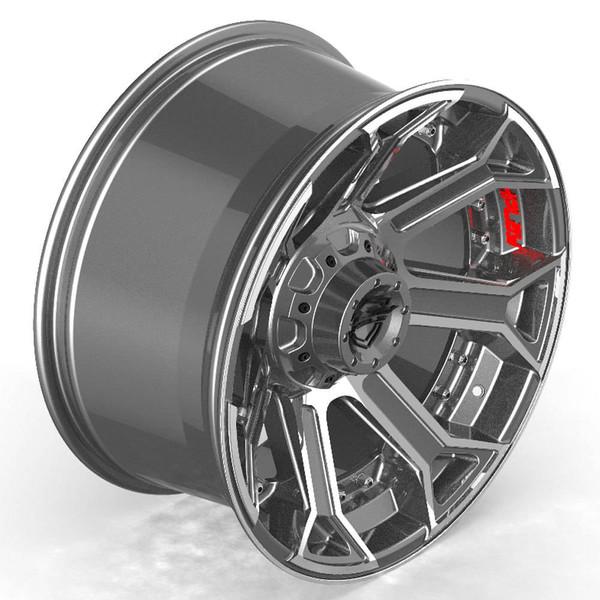 6-Lug 4Play 4P70 Machined Gunmetal wheels