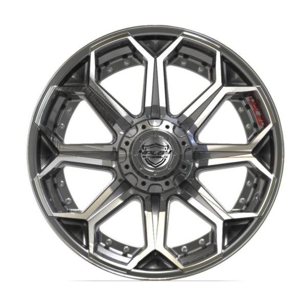 6-Lug 4Play 4P80R Wheels Machined Gunmetal front