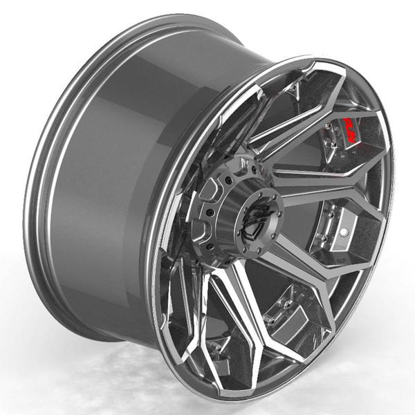 6-Lug 4Play 4P80R Machined Gunmetal wheels