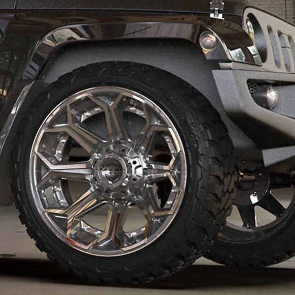 6-Lug 4Play 4P80R Wheels Machined Gunmetal Custom Truck Rims