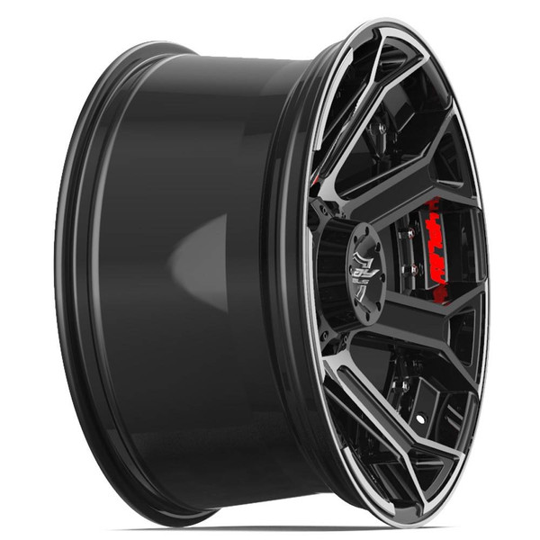 Machined Black 8-Lug 4Play 4P70 truck rims
