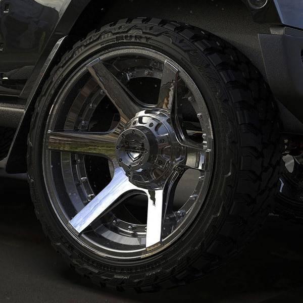 4Play 4P60 Brushed Gunmetal truck wheel detail