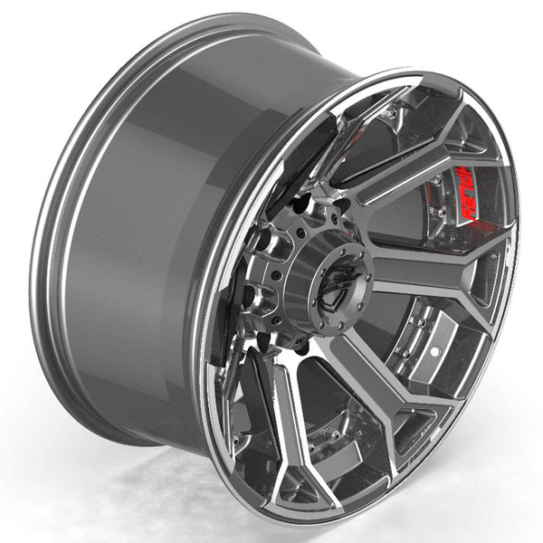 8-Lug 4Play 4P70 Machined Gunmetal wheels