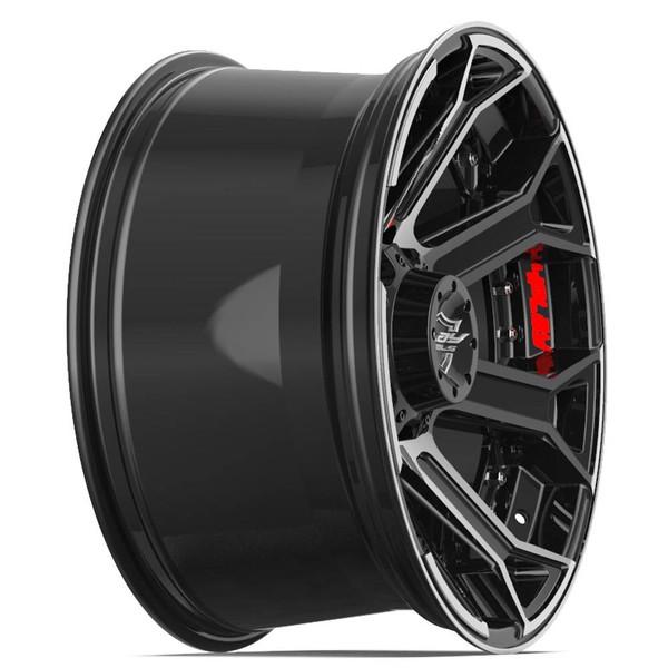"""20"""" 8-Lug 4Play 4P70 Machined Black wheels"""