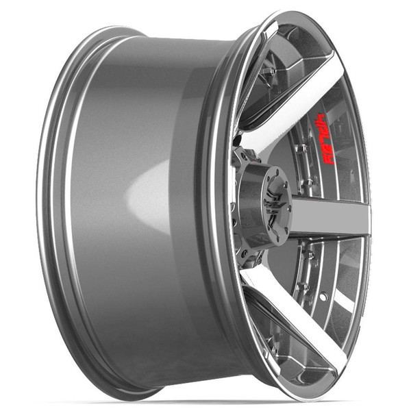 Machined Black 8-Lug 4Play 4P60 Gunmetal Ford truck rims