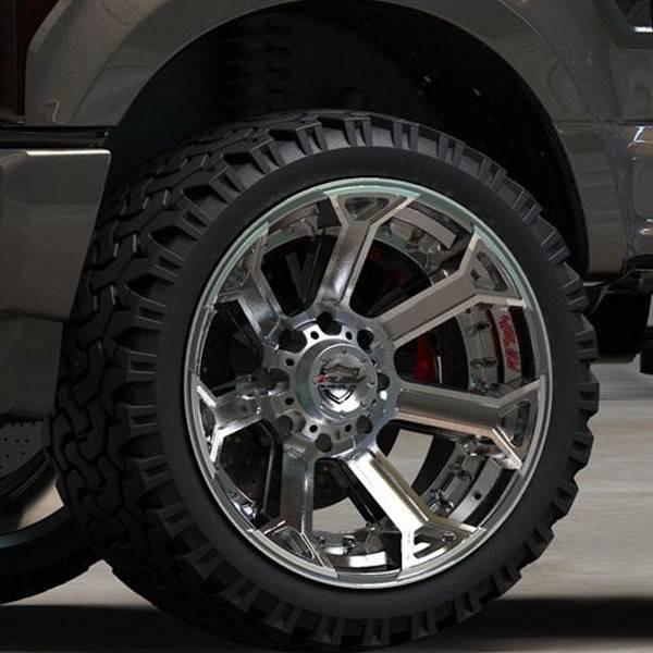 4Play 4P70 Brushed Gunmetal truck wheel detail