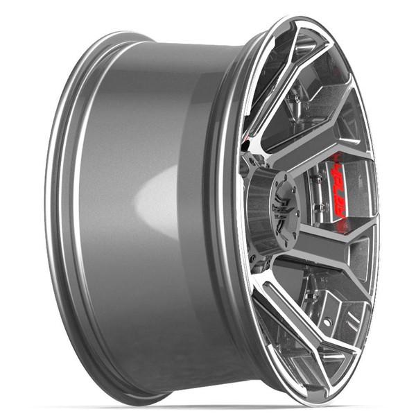 Machined Black 8-Lug 4Play 4P70 Gunmetal Ford truck rims
