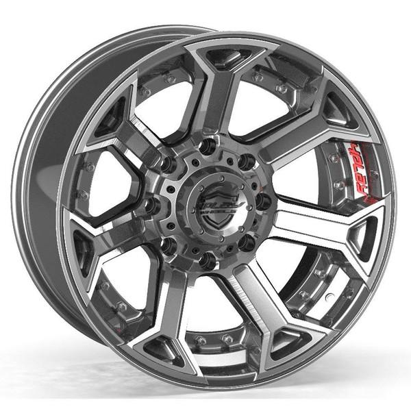 8-Lug 4Play 4P70 Wheels Machined Gunmetal Custom Truck Rims fit Ford