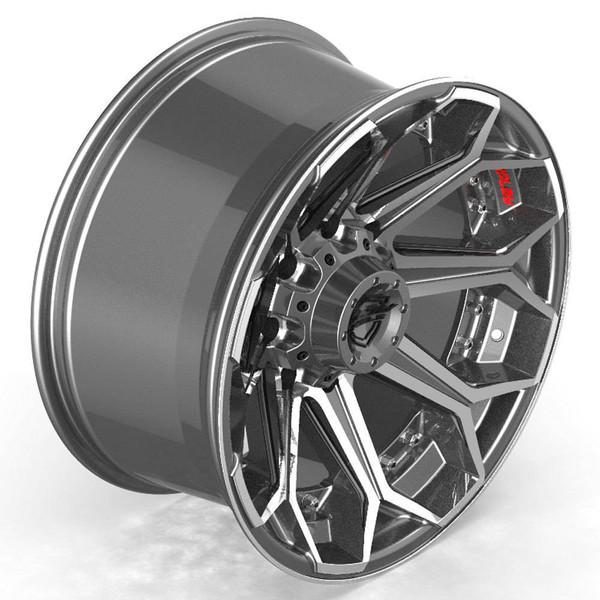 8-Lug 4Play 4P80R Machined Gunmetal wheels for Ford trucks