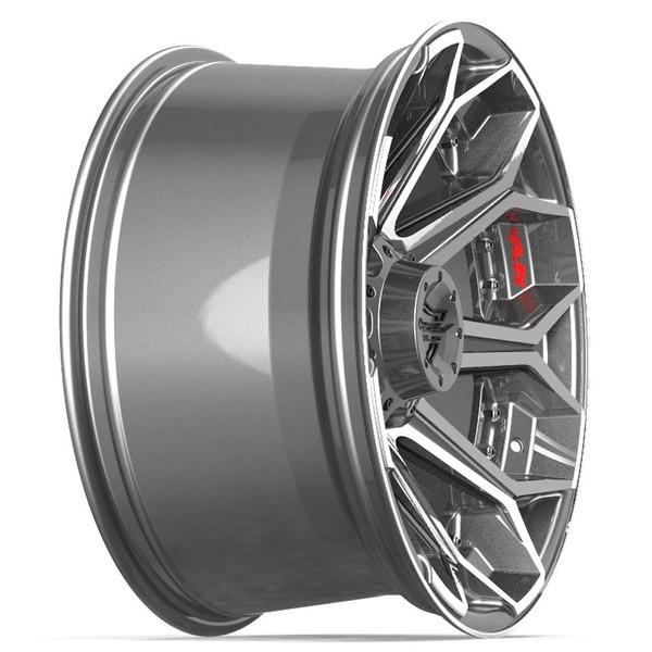 Machined Black 8-Lug 4Play 4P80R Gunmetal Ford truck rims