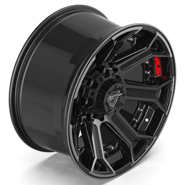 Machined Black 8-Lug 4Play 4P70 truck rims Fit Chevy-GM
