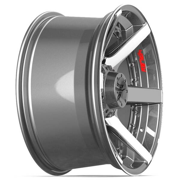 8-Lug 4Play 4P60 Wheels Machined Gunmetal Rims Fit GM Trucks