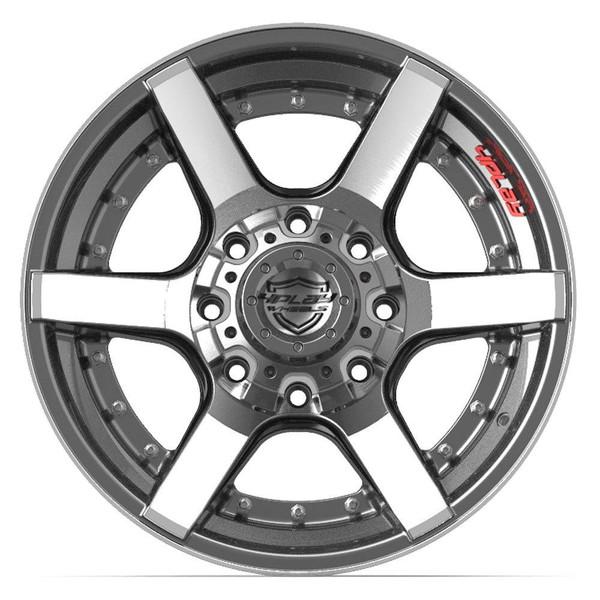 8-Lug 4Play 4P60 Wheels Machined Gunmetal Rims Fit GM Trucks front